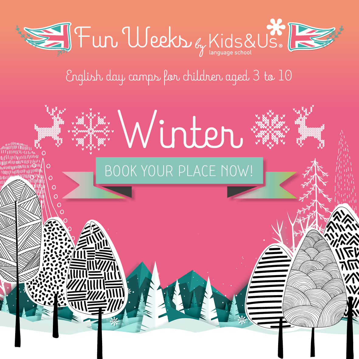 Kids&Us schools open enrolment for the winter English day camps