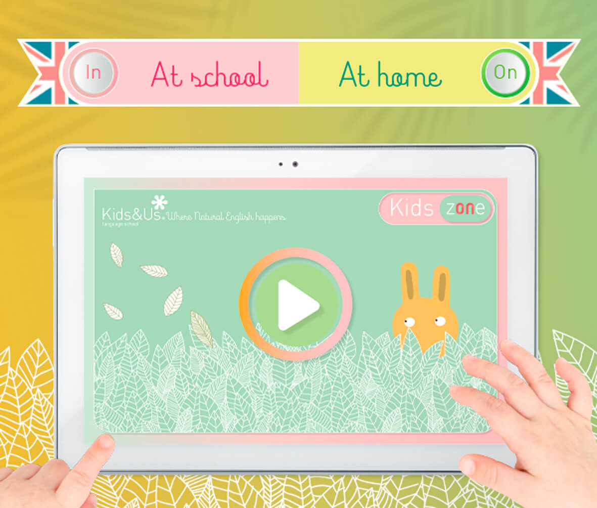 The Kids zONe by Kids&Us is here! Its own online platform for continuing to learn English, whatever happens